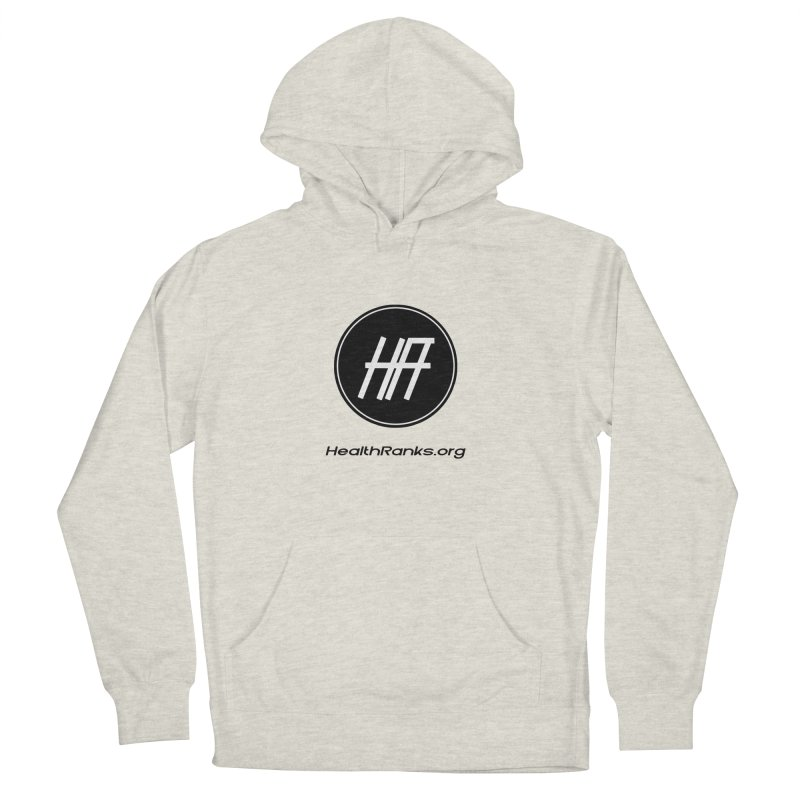 """HR """"official"""" logo Men's French Terry Pullover Hoody by HealthRanks.org GEAR"""