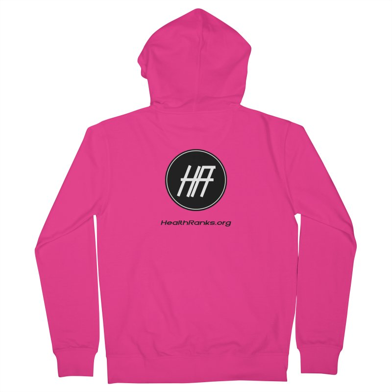 """HR """"official"""" logo Men's French Terry Zip-Up Hoody by HealthRanks.org GEAR"""