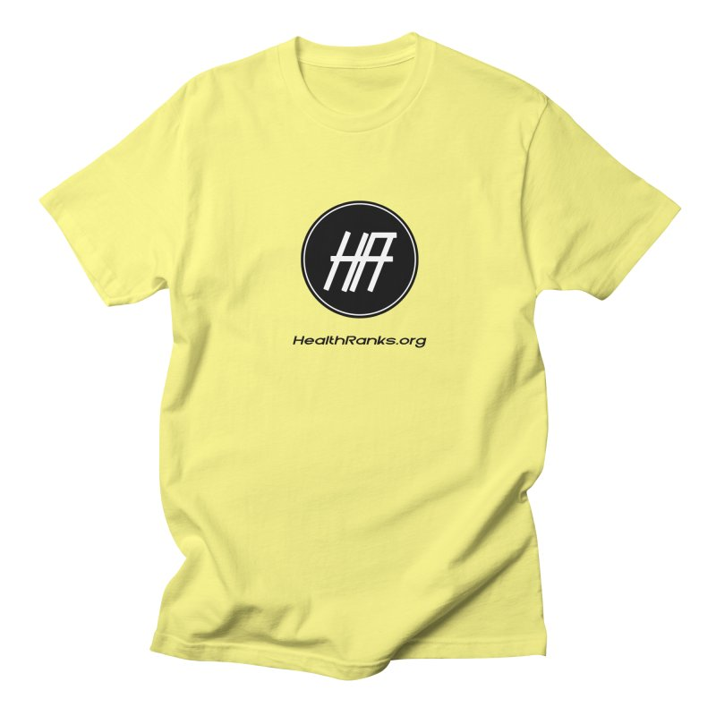 "HR ""official"" logo Men's T-Shirt by HealthRanks.org GEAR"