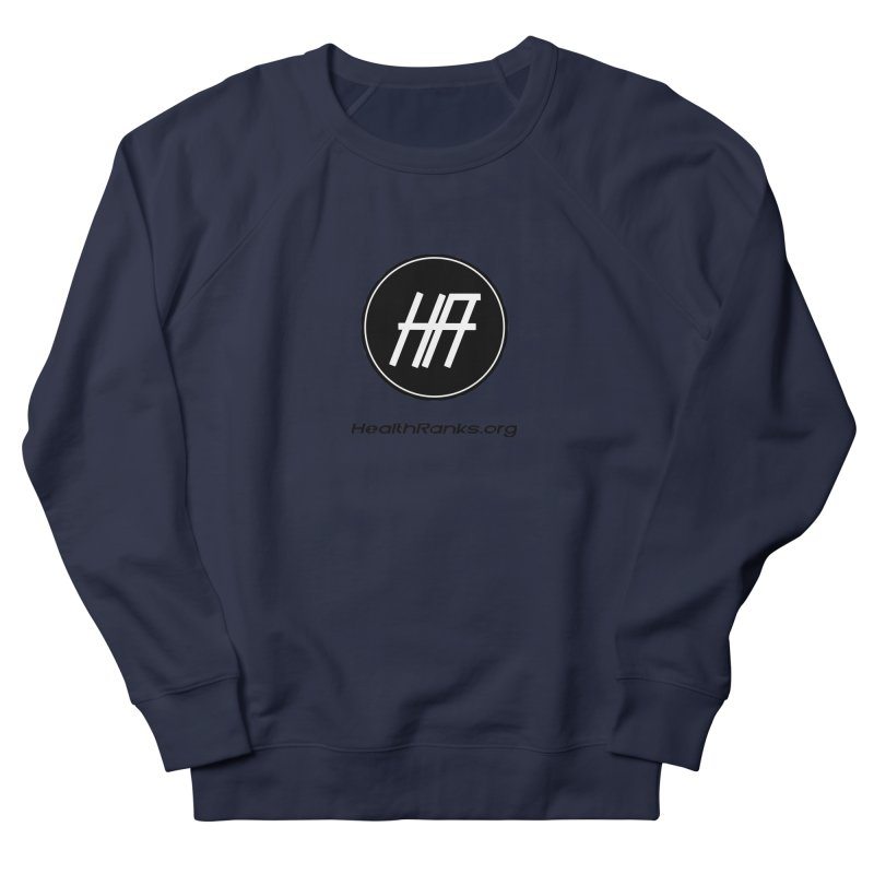 "HR ""official"" logo Men's French Terry Sweatshirt by HealthRanks.org GEAR"