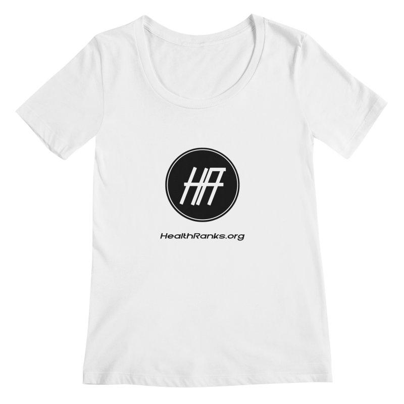 "HR ""official"" logo Women's Scoopneck by HealthRanks.org GEAR"