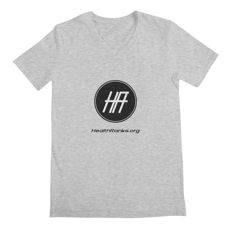 "HR ""official"" logo Men's Regular V-Neck by HealthRanks.org GEAR"