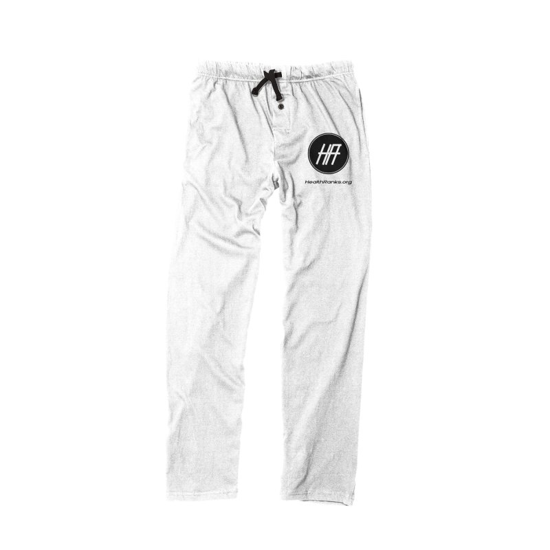 "HR ""official"" logo in Men's Lounge Pants Bottoms Black by HealthRanks.org GEAR"