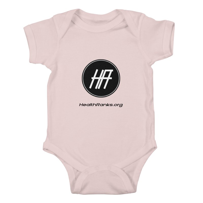 "HR ""official"" logo Kids Baby Bodysuit by HealthRanks.org GEAR"