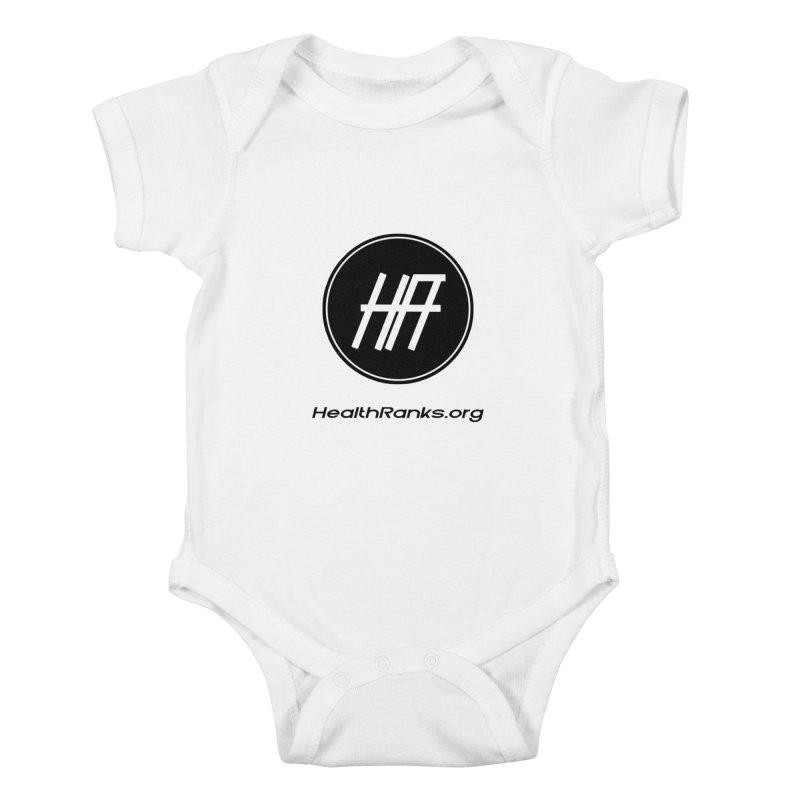 "HR ""official"" logo Kids Baby Bodysuit by HealthRanks.org GEAR"