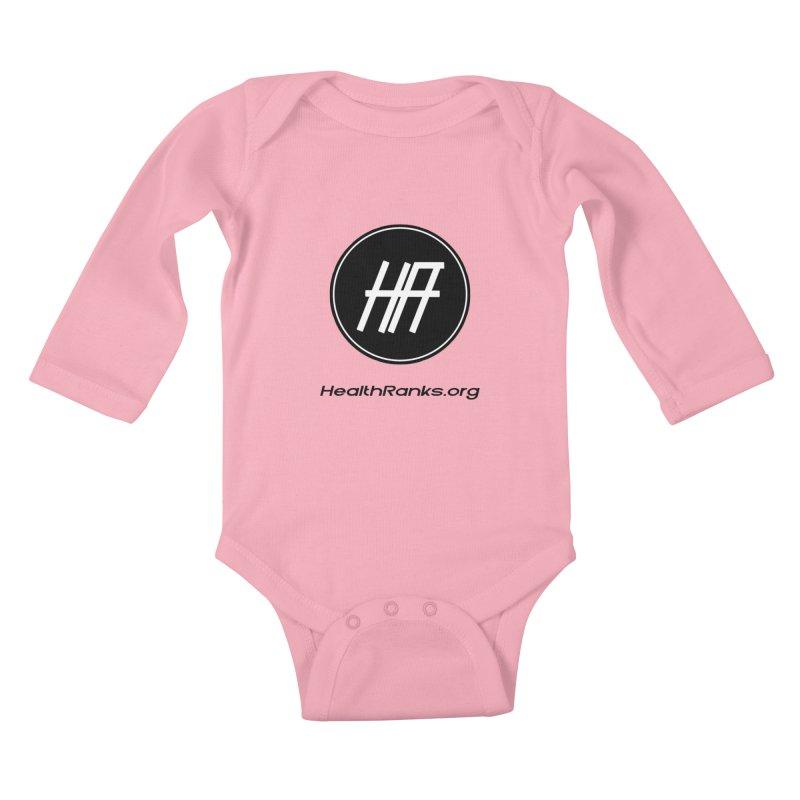 HealthRanks.org logo Kids Baby Longsleeve Bodysuit by HealthRanks.org GEAR