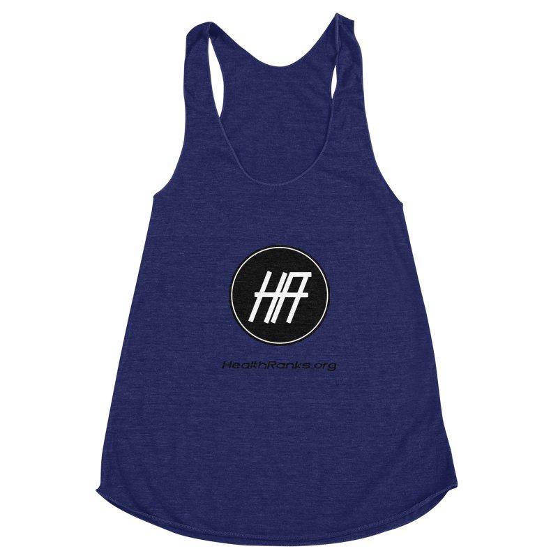 "HR ""official"" logo Women's Racerback Triblend Tank by HealthRanks.org GEAR"