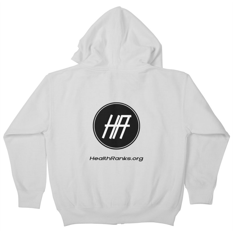 "HR ""official"" logo Kids Zip-Up Hoody by HealthRanks.org GEAR"