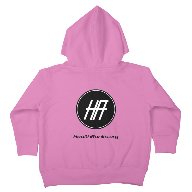 "HR ""official"" logo Kids Toddler Zip-Up Hoody by HealthRanks.org GEAR"