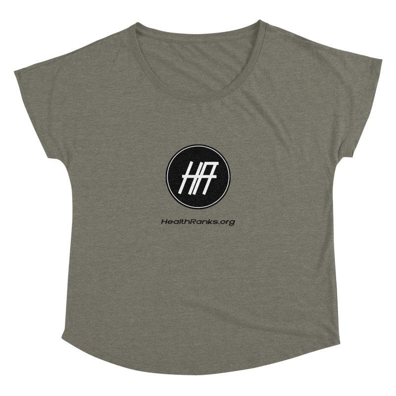 "HR ""official"" logo Women's Dolman Scoop Neck by HealthRanks.org GEAR"