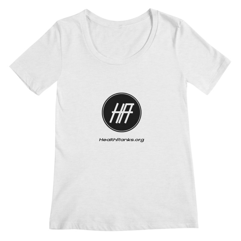 "HR ""official"" logo Women's Scoop Neck by HealthRanks.org GEAR"