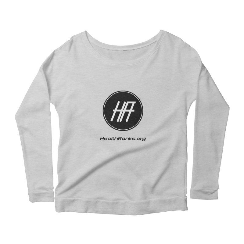 "HR ""official"" logo Women's Scoop Neck Longsleeve T-Shirt by HealthRanks.org GEAR"