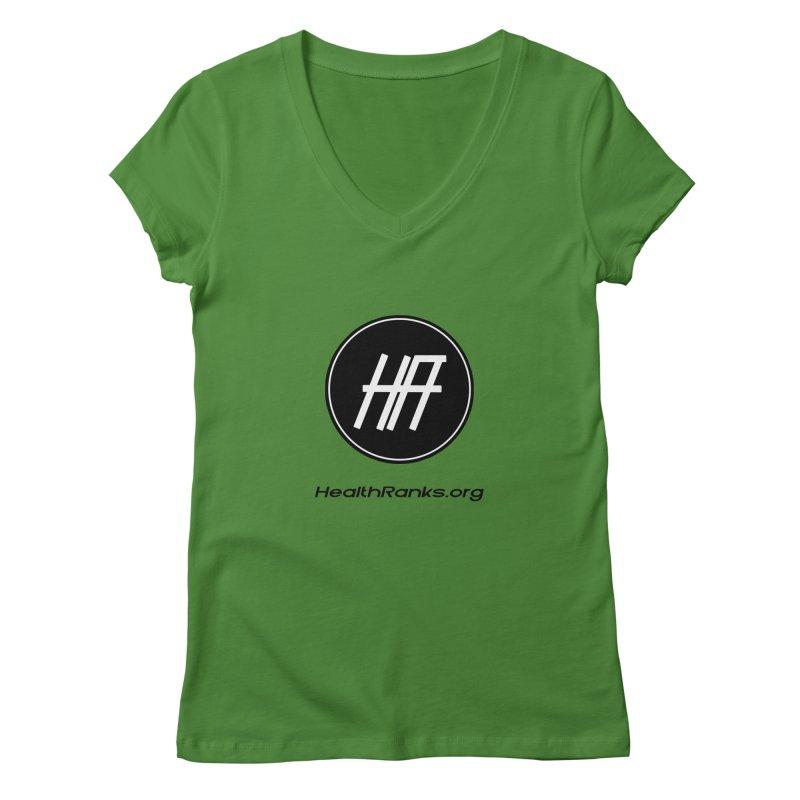 "HR ""official"" logo Women's V-Neck by HealthRanks.org GEAR"