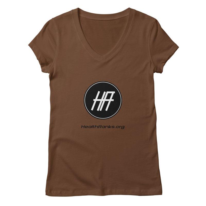 "HR ""official"" logo Women's Regular V-Neck by HealthRanks.org GEAR"