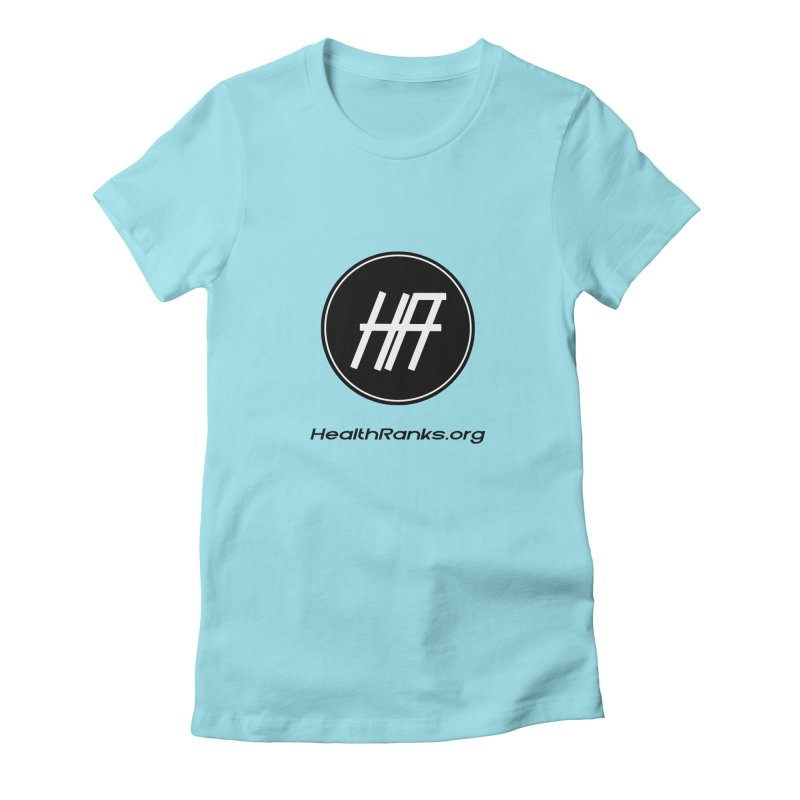 """HR """"official"""" logo Women's Fitted T-Shirt by HealthRanks.org GEAR"""