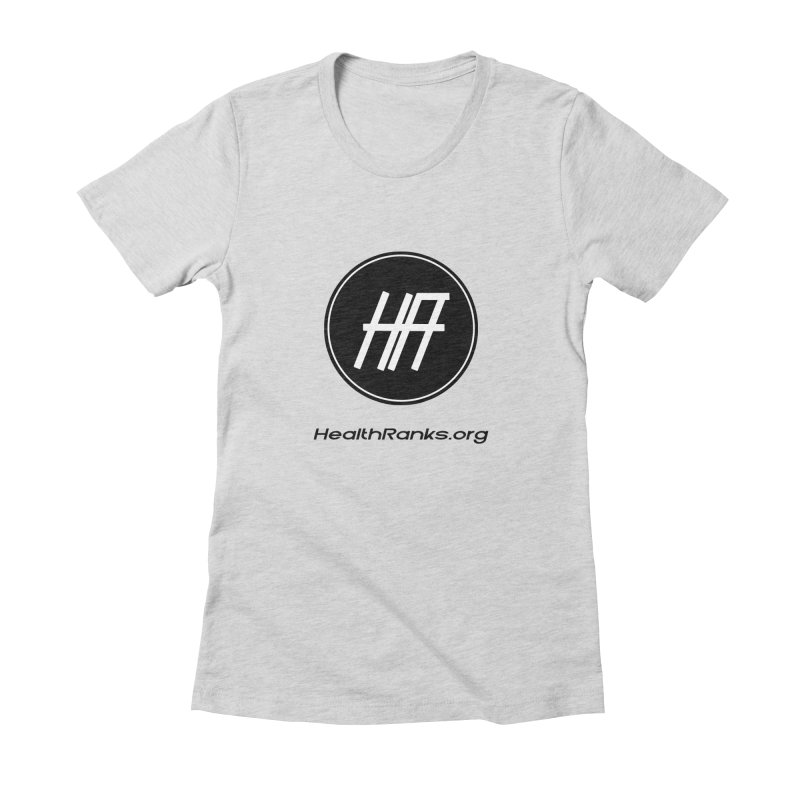 "HR ""official"" logo Women's Fitted T-Shirt by HealthRanks.org GEAR"
