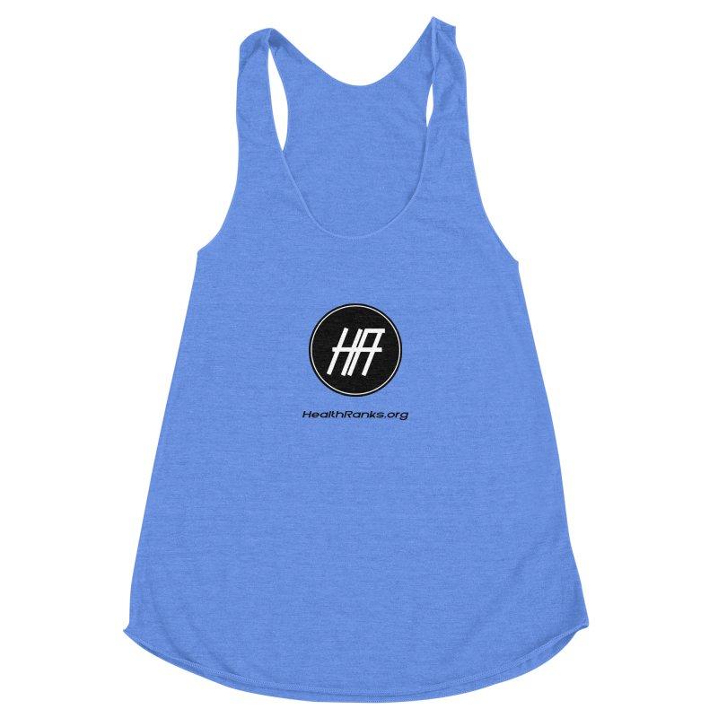HealthRanks.org logo Women's Racerback Triblend Tank by HealthRanks.org GEAR
