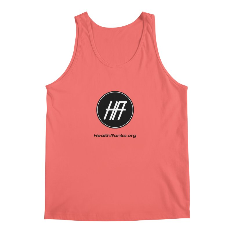 "HR ""official"" logo in Men's Regular Tank Coral by HealthRanks.org GEAR"
