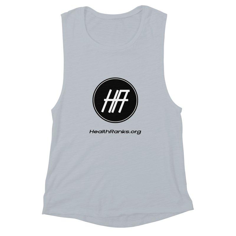 "HR ""official"" logo Women's Muscle Tank by HealthRanks.org GEAR"