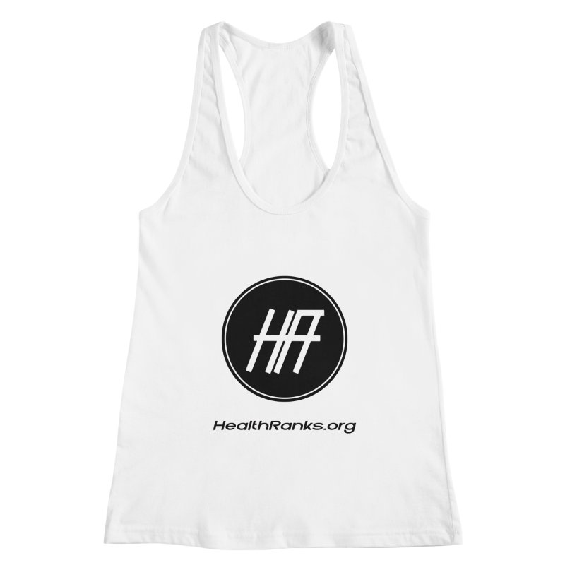 """HR """"official"""" logo Women's Racerback Tank by HealthRanks.org GEAR"""