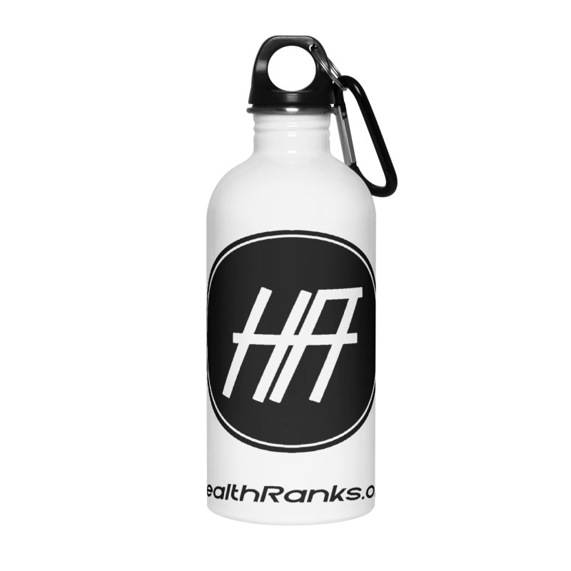 "HR ""official"" logo Accessories Water Bottle by HealthRanks.org GEAR"