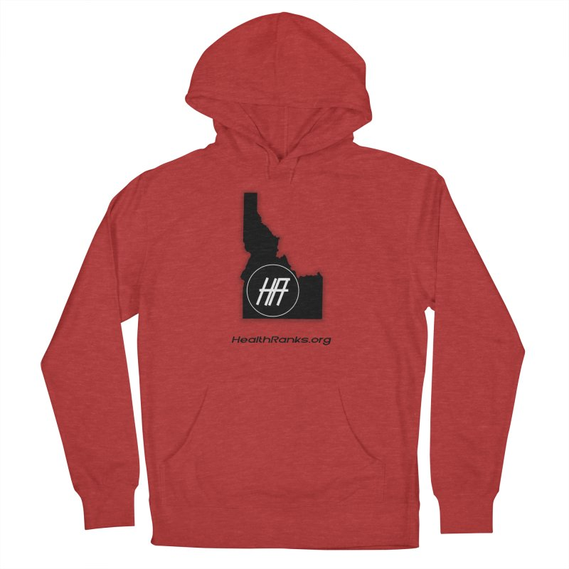 "HR ""idaho"" logo Men's French Terry Pullover Hoody by HealthRanks.org GEAR"