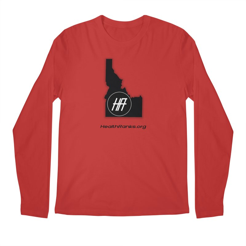 "HR ""idaho"" logo Men's Regular Longsleeve T-Shirt by HealthRanks.org GEAR"