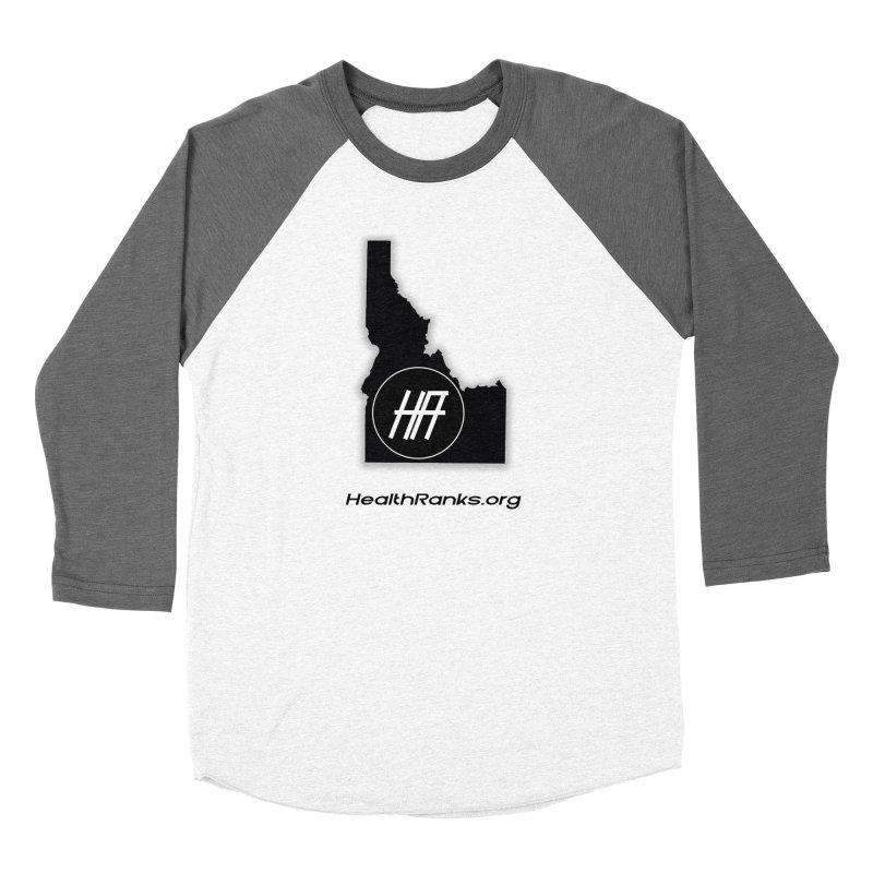 "HR ""idaho"" logo Women's Baseball Triblend T-Shirt by HealthRanks.org GEAR"