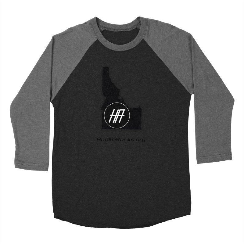"HR ""idaho"" logo Men's Baseball Triblend Longsleeve T-Shirt by HealthRanks.org GEAR"