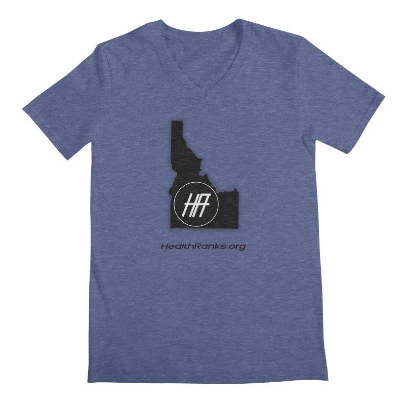 """HR """"idaho"""" logo Men's Regular V-Neck by HealthRanks.org GEAR"""