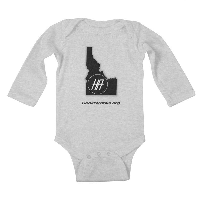 "HR ""idaho"" logo Kids Baby Longsleeve Bodysuit by HealthRanks.org GEAR"