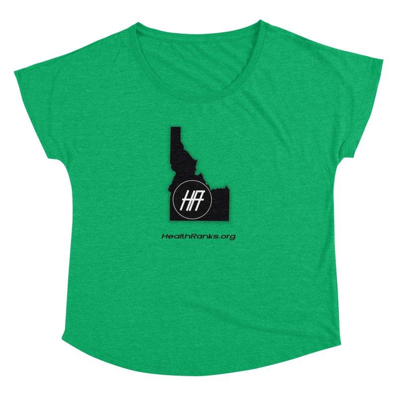 """HR """"idaho"""" logo Women's Dolman Scoop Neck by HealthRanks.org GEAR"""