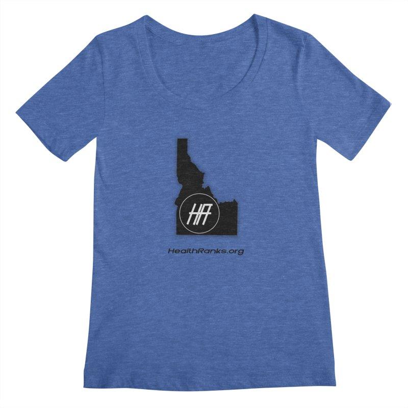 "HR ""idaho"" logo Women's Regular Scoop Neck by HealthRanks.org GEAR"