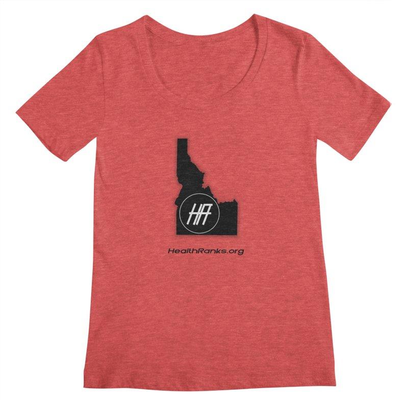 """HR """"idaho"""" logo Women's Scoopneck by HealthRanks.org GEAR"""