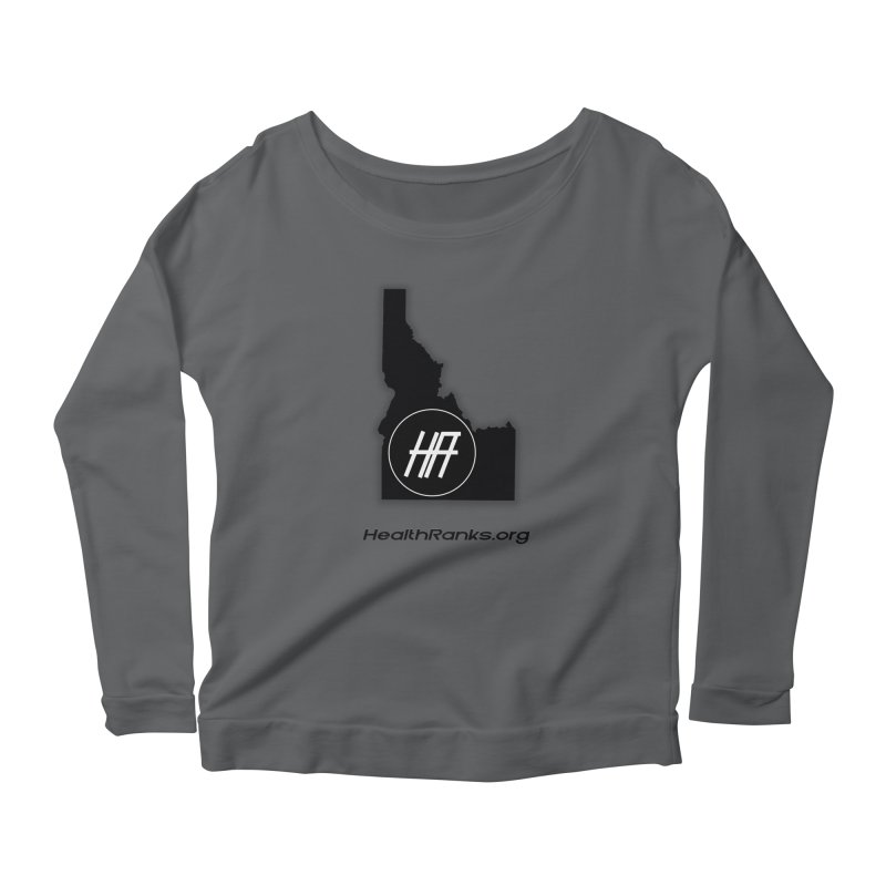 "HR ""idaho"" logo Women's Longsleeve Scoopneck  by HealthRanks.org GEAR"
