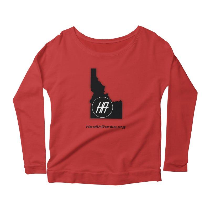 """HR """"idaho"""" logo Women's Longsleeve Scoopneck  by HealthRanks.org GEAR"""