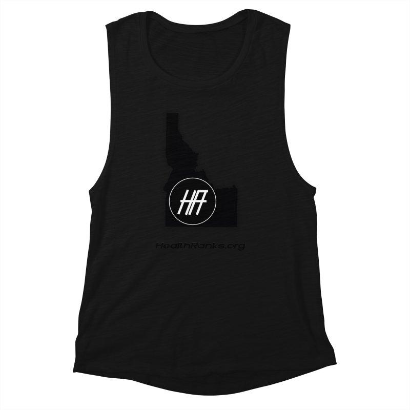 """HR """"idaho"""" logo Women's Muscle Tank by HealthRanks.org GEAR"""