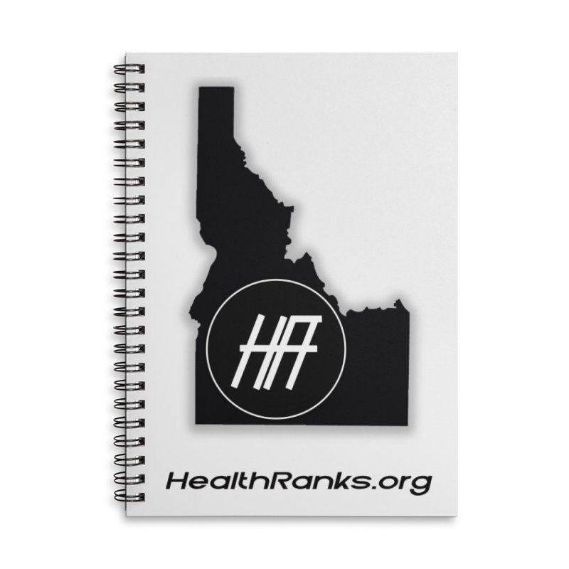 """HR """"idaho"""" logo Accessories Lined Spiral Notebook by HealthRanks.org GEAR"""