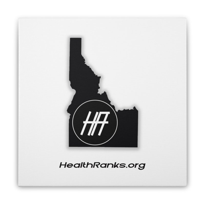 "HR ""idaho"" logo Home Stretched Canvas by HealthRanks.org GEAR"