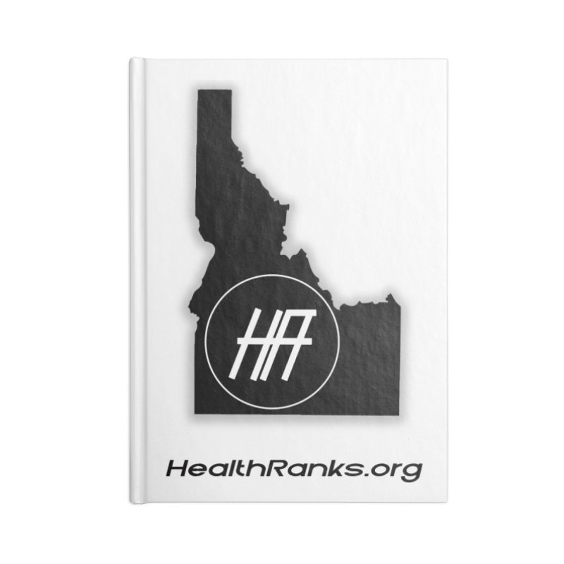"""HR """"idaho"""" logo Accessories Lined Journal Notebook by HealthRanks.org GEAR"""