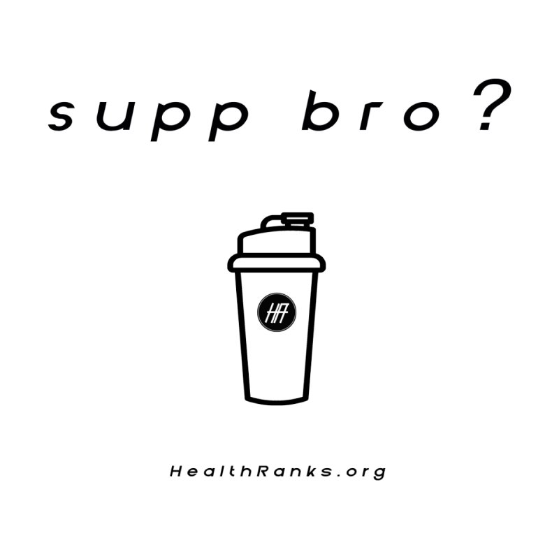"HR ""supp bro"" logo Men's Tank by HealthRanks.org GEAR"