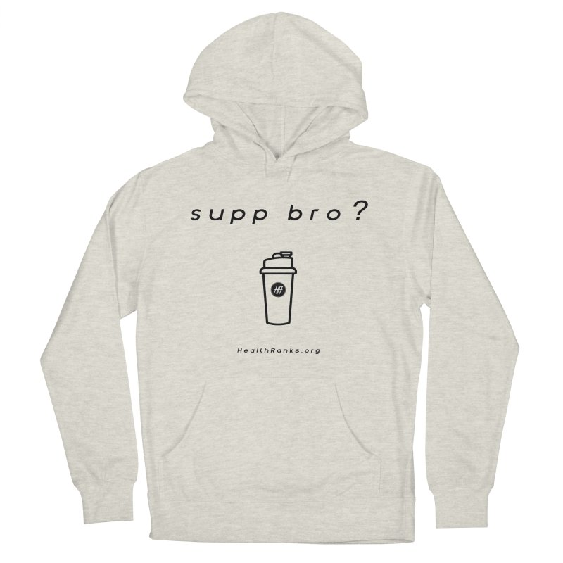 "HR ""supp bro"" logo Men's French Terry Pullover Hoody by HealthRanks.org GEAR"