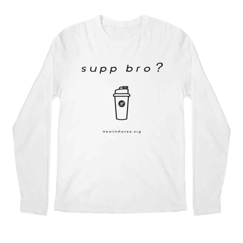 "HR ""supp bro"" logo Men's Regular Longsleeve T-Shirt by HealthRanks.org GEAR"