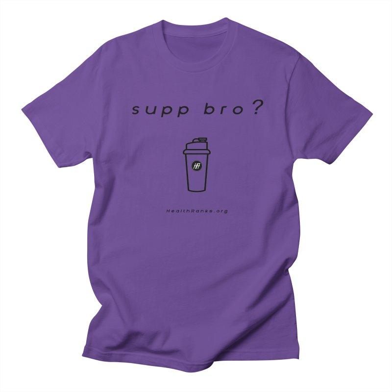 """HR """"supp bro"""" logo Men's Regular T-Shirt by HealthRanks.org GEAR"""