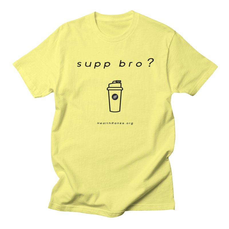 "HR ""supp bro"" logo Men's T-Shirt by HealthRanks.org GEAR"