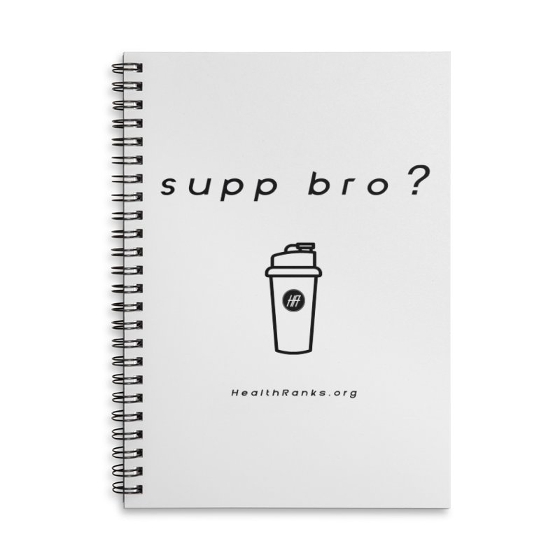"""HR """"supp bro"""" logo Accessories Lined Spiral Notebook by HealthRanks.org GEAR"""
