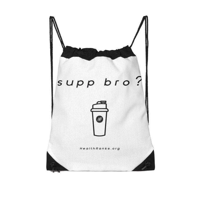 "HR ""supp bro"" logo Accessories Drawstring Bag Bag by HealthRanks.org GEAR"