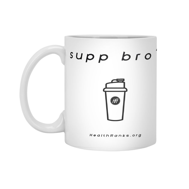 "HR ""supp bro"" logo Accessories Standard Mug by HealthRanks.org GEAR"