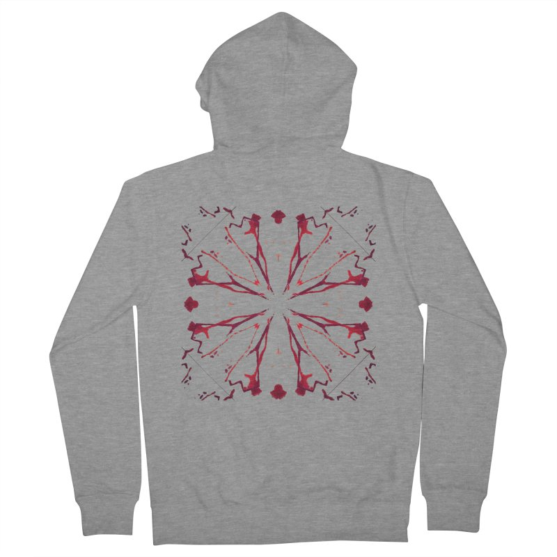 Blood Blossom Men's French Terry Zip-Up Hoody by Make Art Eat Pudding