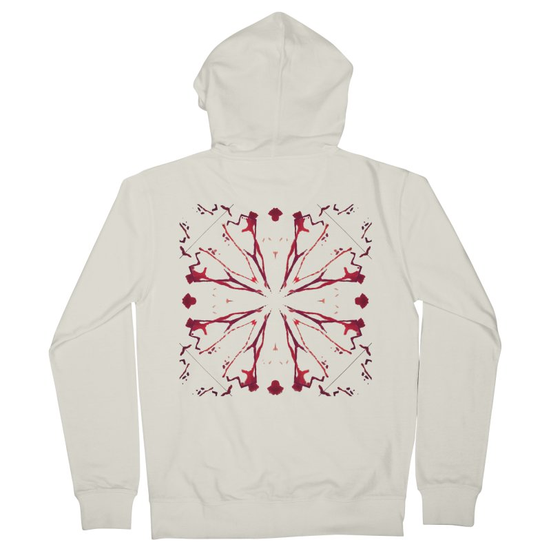 Blood Blossom Men's Zip-Up Hoody by Make Art Eat Pudding